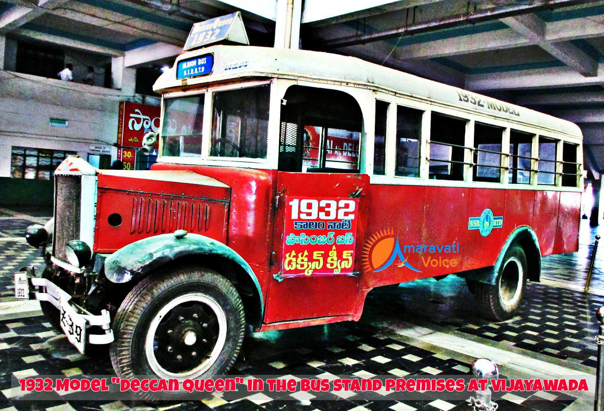 1932 Model Deccan Queen Model Bus in Vijayawada Bus Stand
