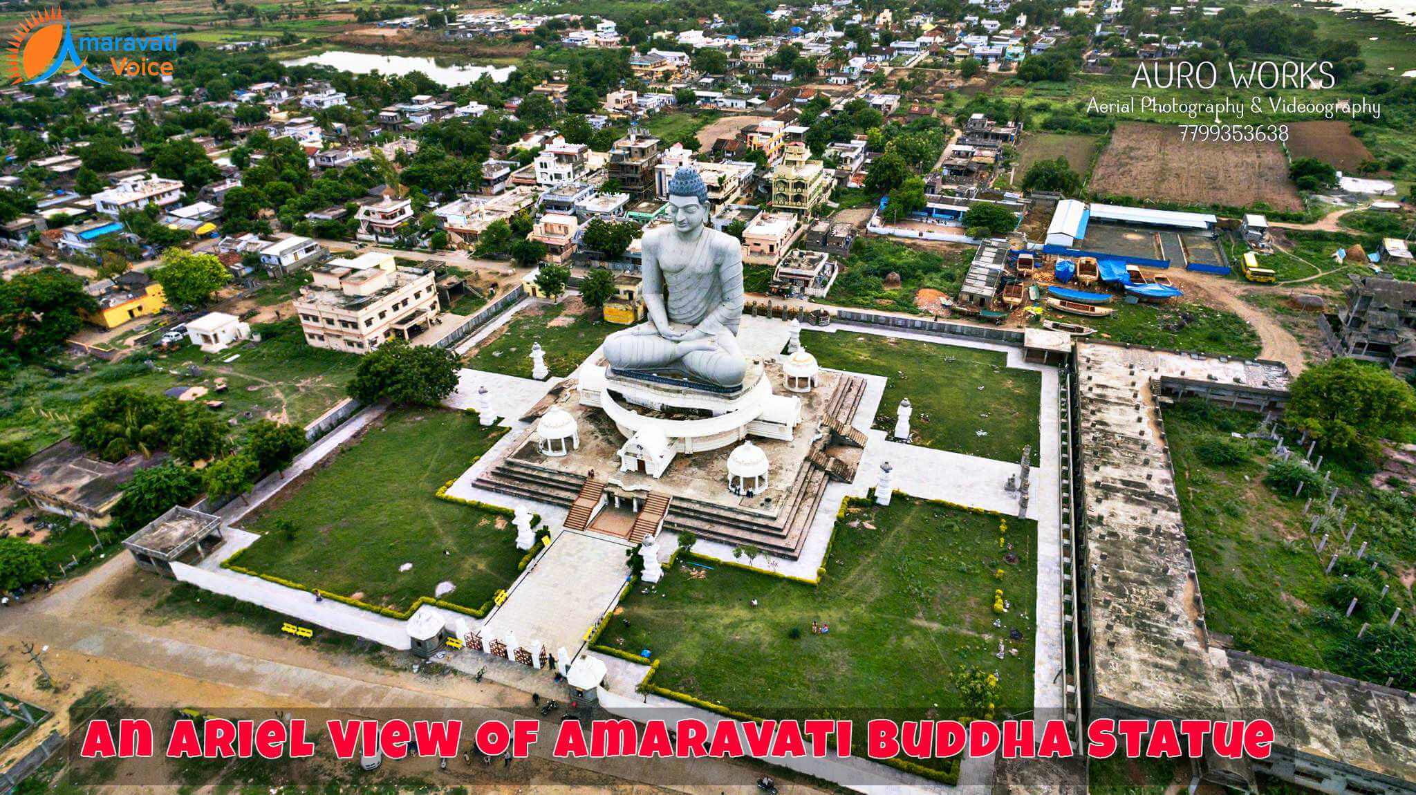 An Arial View of Buddha Statue in Amaravati