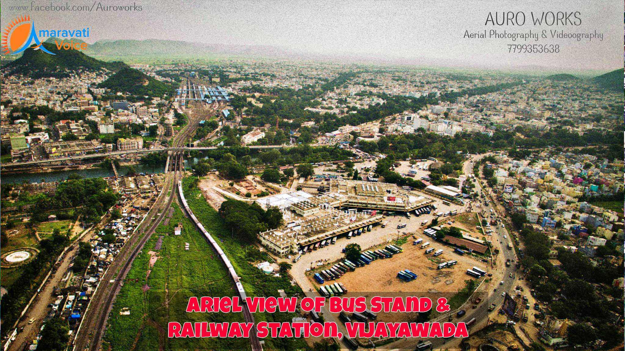 Ariel view of Vijayawada Bus Stand