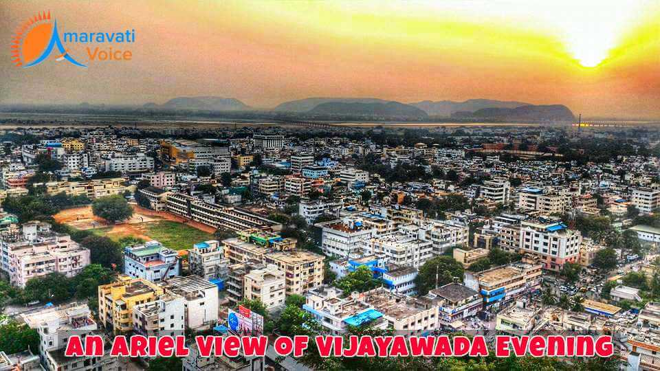 An View of Vijayawada Evening