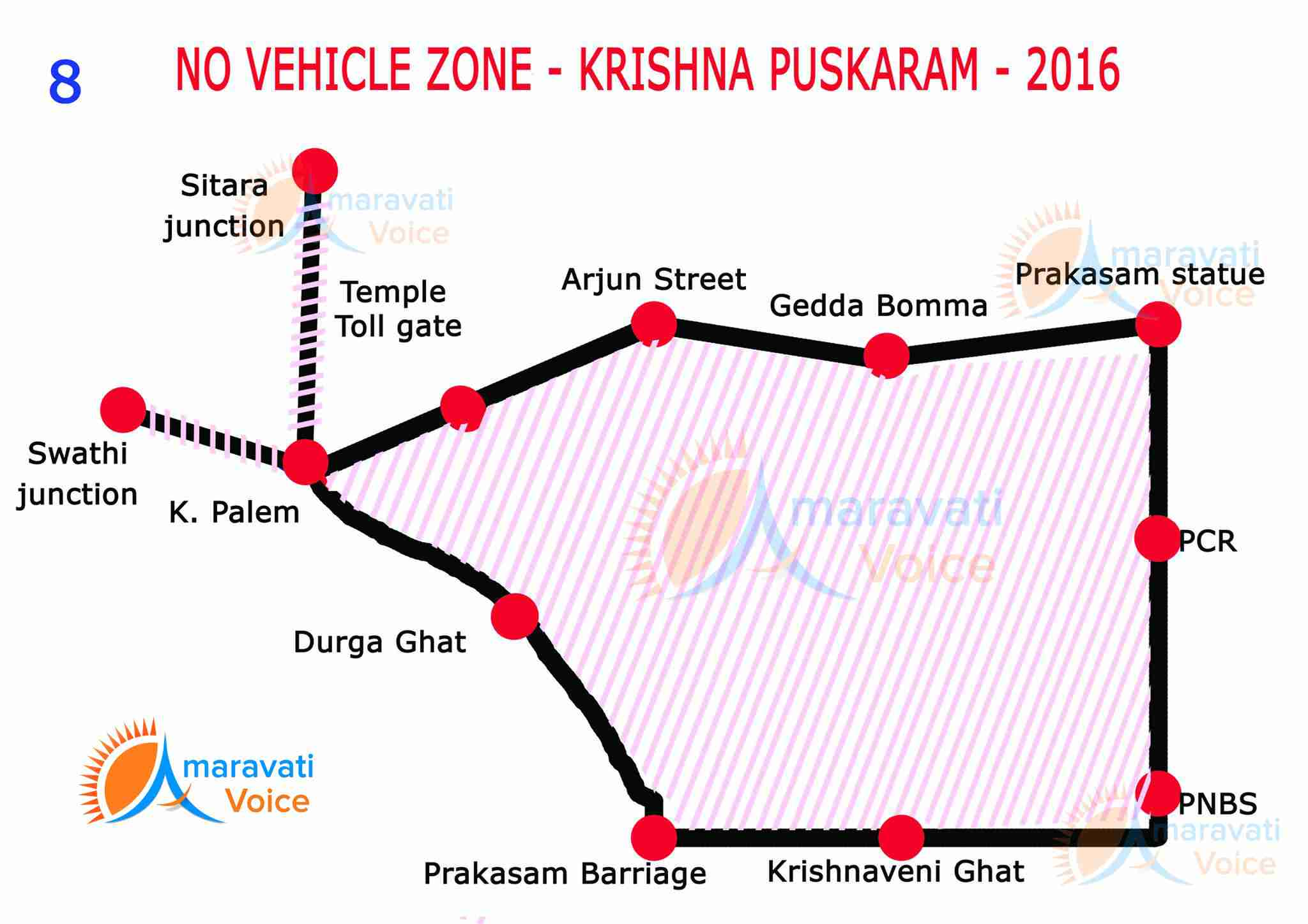 no vehicle zone vijayawada pushkarams 08072016