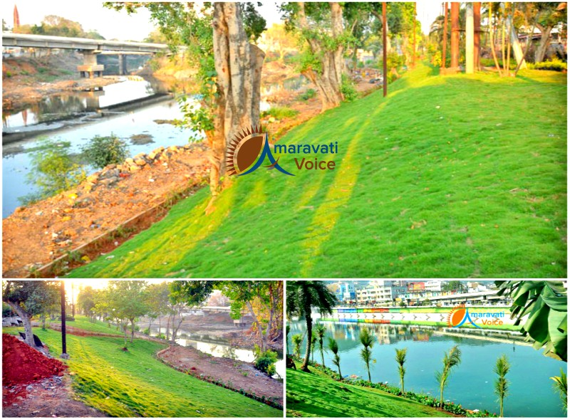 vijayawada canals beautificaiton 16042016