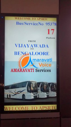 vijayawada bus stand digital boards