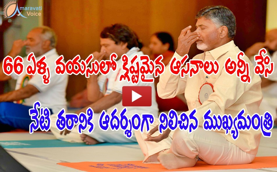 chandrababu yoga day 21062016