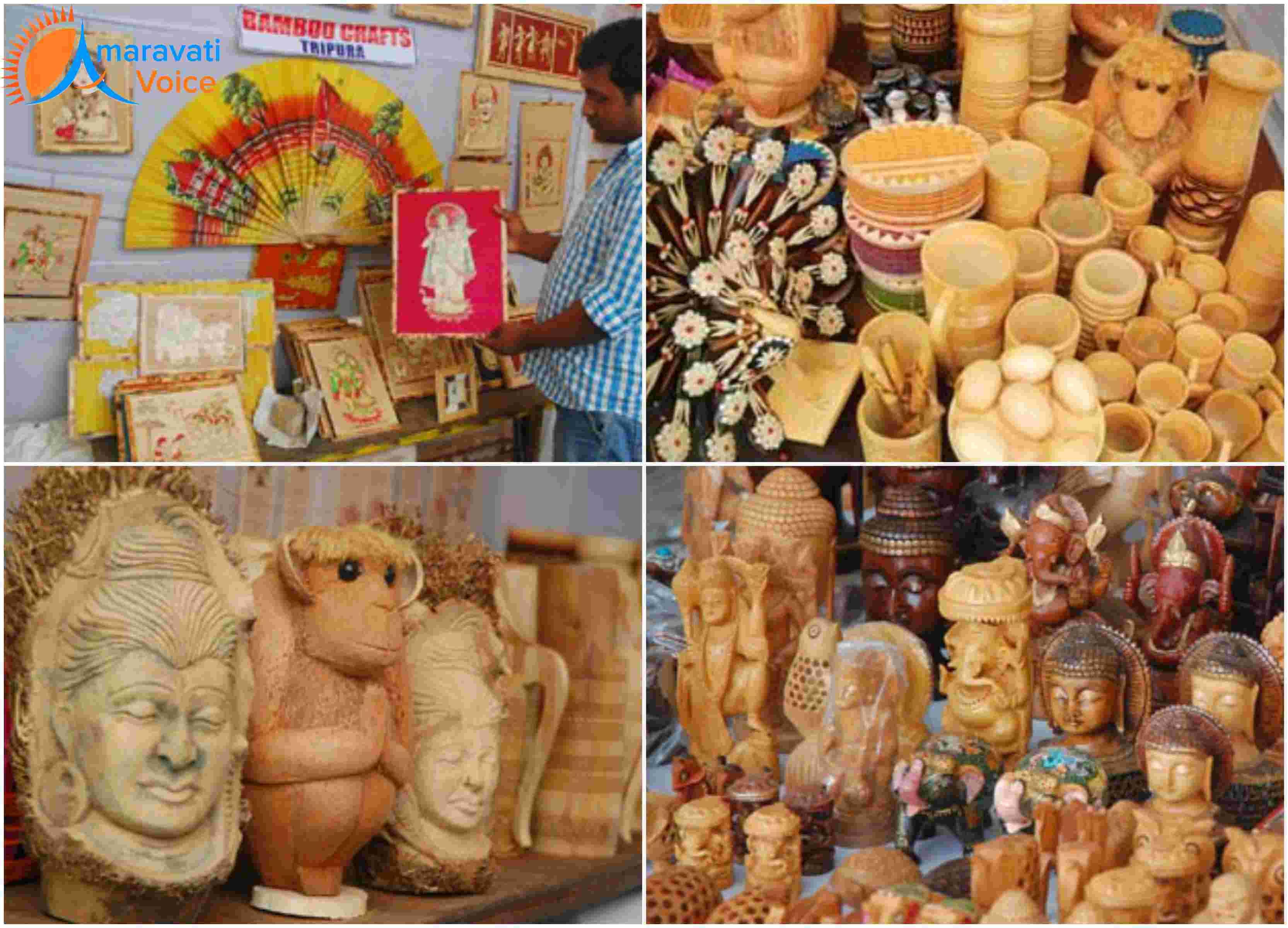 Tripura S Bamboo Handicrafts Pulls Crowds At Gandhi Shilp Bazar In