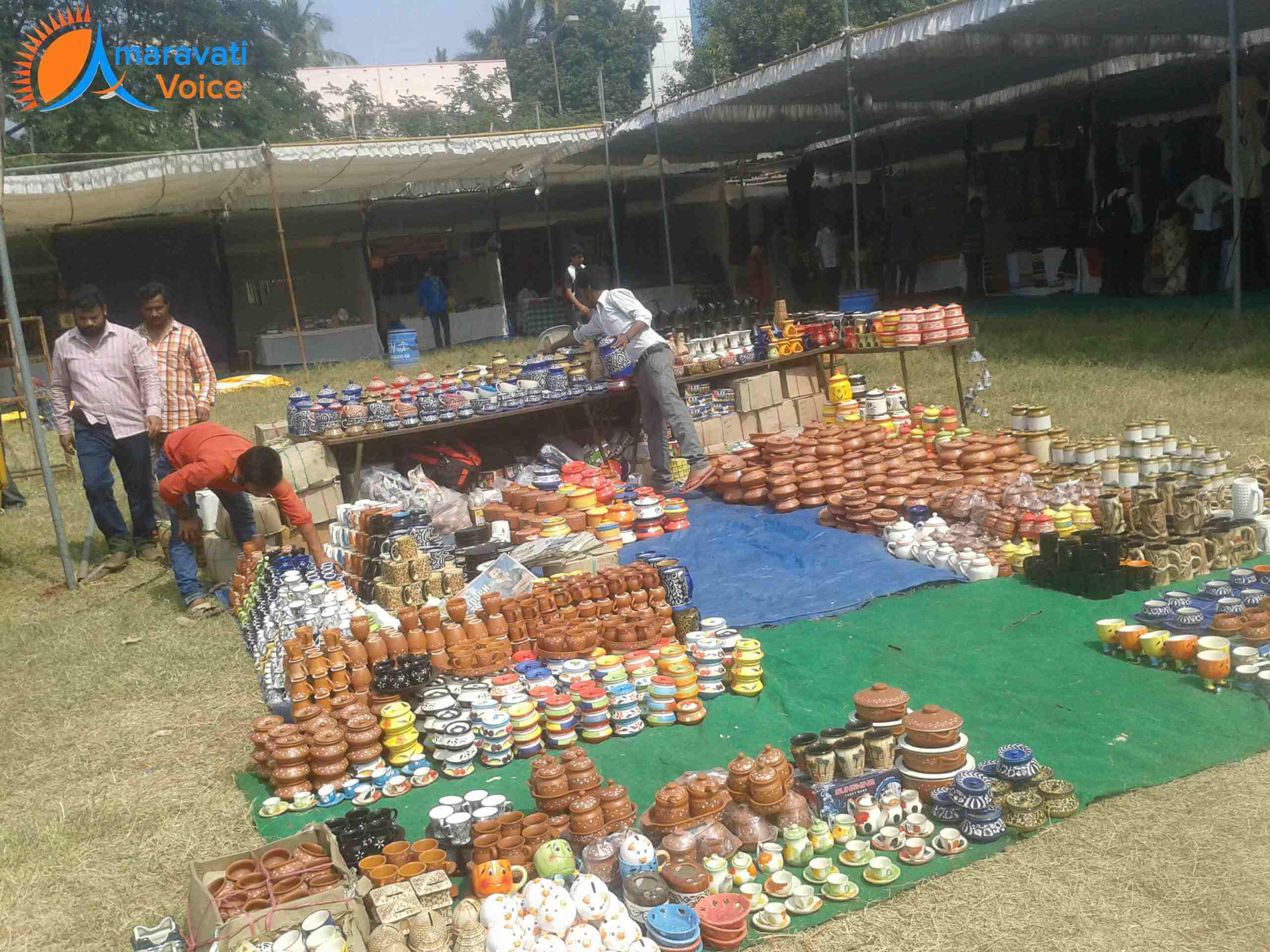 Gandhi Shilp Bazaar Handicrafts Exhibition Started In Vijayawada News