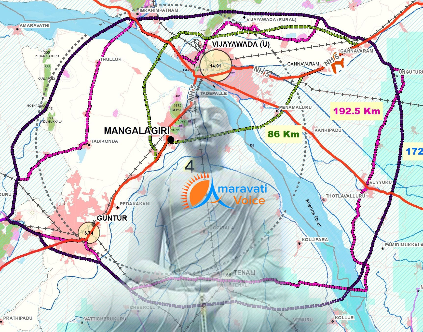 Crda Outer Ring Road Map