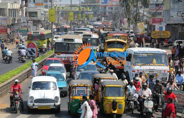 traffic diversions vijayawada