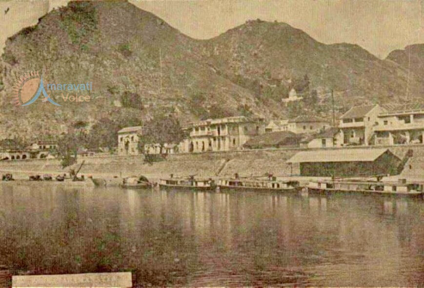 vijayawada old photos, Canal Road in 1920