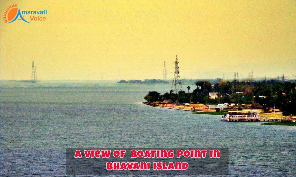 Bhavani Island Boating Point View From Krishna River