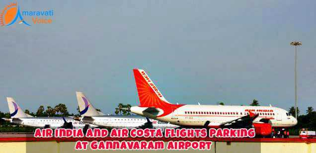 Flihts Being Parked at Gananvaram Airport