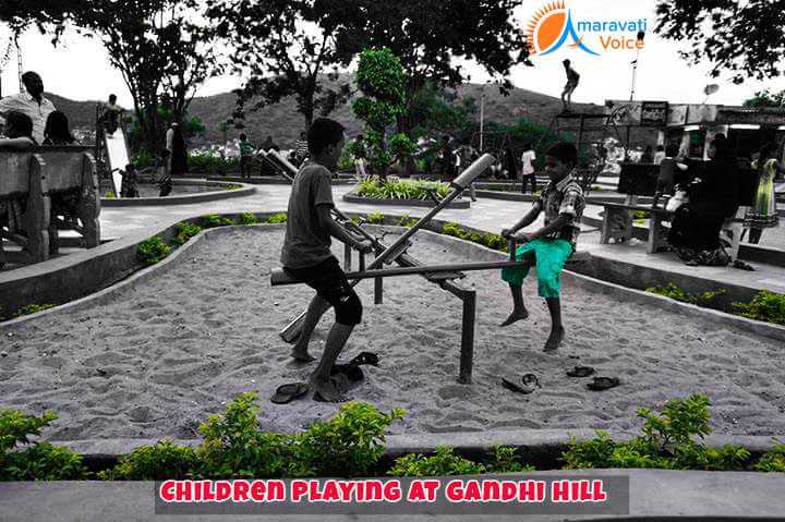 Chidren Playing at Gandhi Hill Vijayawada
