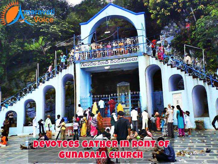 Devotees in Gunadala Church
