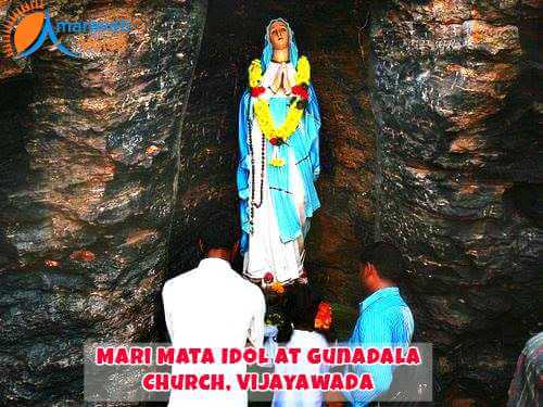 Gunadal Mary Matha Idol at Gunadal Hill in Vijayawada
