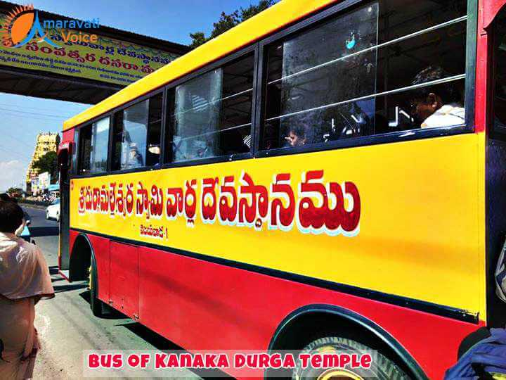 Free Service of Bus to Durga Temple Vijayawaa